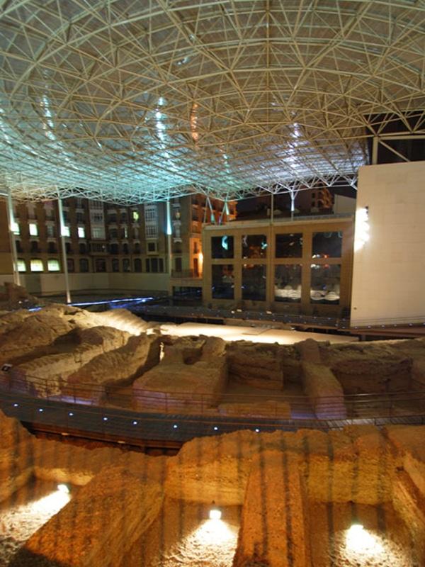 LEVITEC, proyectos teatro romano de Zaragoza
